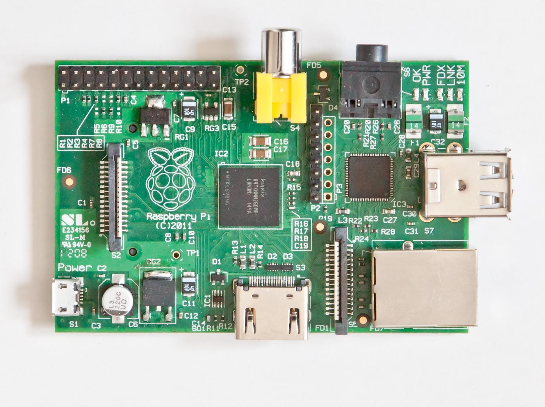 Model A Raspberry Pi Board