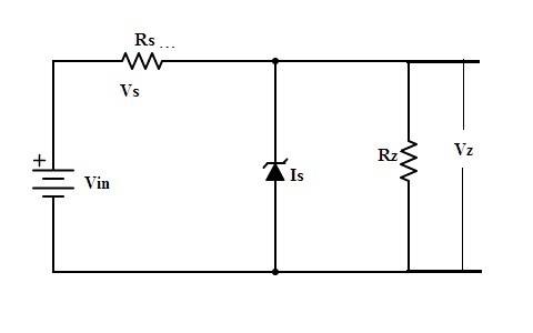 Zener Diode as Voltage Regulator Circuit Diagram