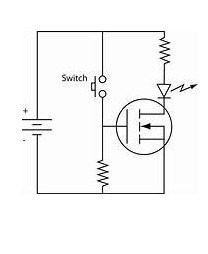 Symbol for N-Channel MOSFET Working as a Switch