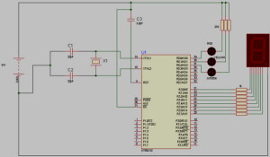 Circuit Diagram of Traffic Light Controller