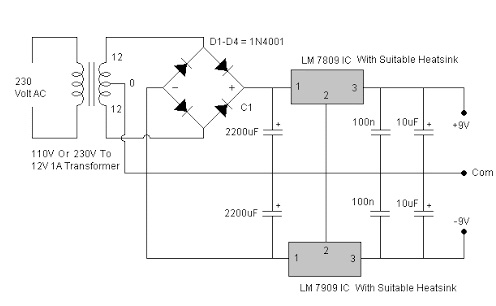 7805 Voltage Regulator Circuit Working