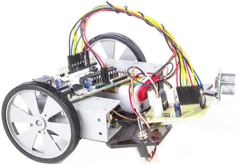 Arduino Operated Obstacle Avoidance Robot Project