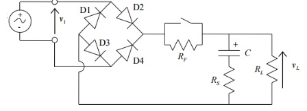 Bridge Wave Rectifier With Capacitor Filter