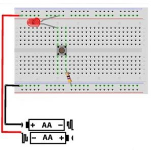 Circuit Connection on Breadboard