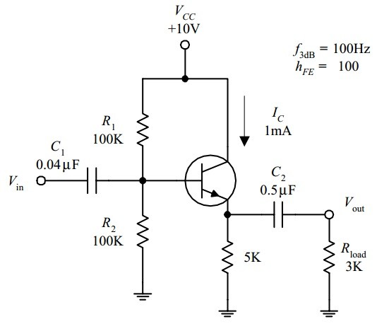 Circuit for Common Emitter Amplifier