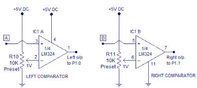 Comparator Circuit Using LM324