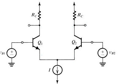 Differential Amplifier Using BJT Circuit