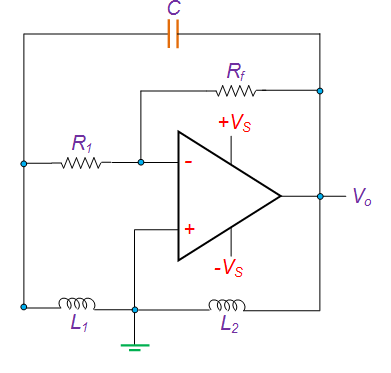 Hartley Oscillator Using OP-AMP