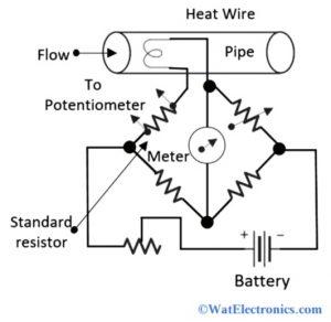 Hot Wire Anemometer Circuit Diagram