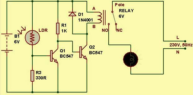 Light Sensor Circuit Diagram