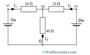 Nodal Analysis with Voltage Source