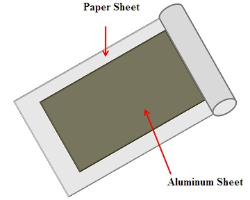 Paper Capacitor with Paper Sheet