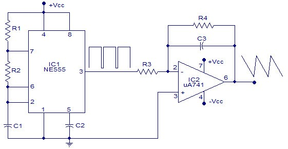 Square Wave Generator using Op-Amp - Electronic Circuits