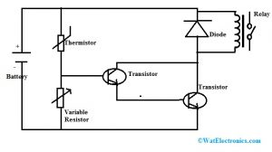 Temperature Sensor Circuit with Relay Switch