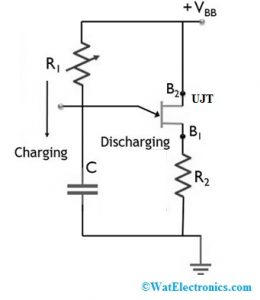 UJT Relaxation Oscillator Circuit