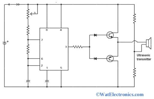 Ultrasonic Transducer Transmitter
