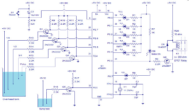 Water level Indicator Circuit Diagram