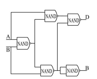 half-subtractor-implemented-with-nand-gates