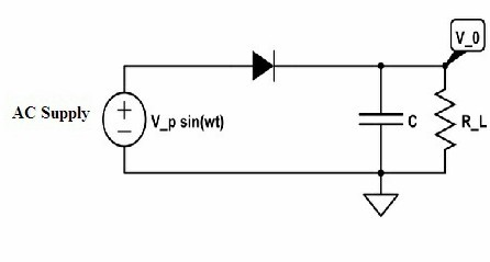 half wave rectifier with capacitor filter